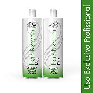 Escova Progressiva Profissional Hair Keratin Plus - Shampoo + Alisante