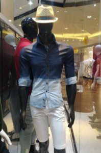 Slim manga longa jeans