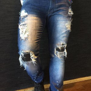 Calça Destroyed Boxer Jeans