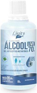 Álcool em gel 70% 500ml. Próprio para a proteção das mãos e braços.