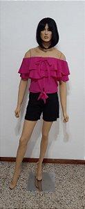 Blusa ciganinha com babados duplo