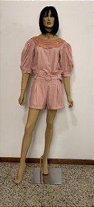 Shorts tecido plano com cinto
