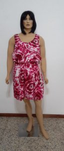 vestido tecido plano tie dye middi
