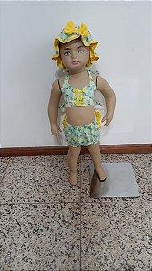 Conjunto banho de sol estampa abacaxi