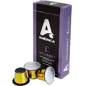 América Café Cápsulas GOURMET Pack Kit com 10 Caixas