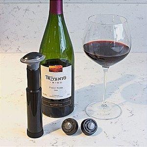 Bomba de Vácuo para vinhos com Marcador de Data - Blister