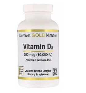 Vitamina D 10.000 California Gold 360 Softgels Importado EUA