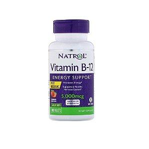 Vitamina B12 Sublingual Natrol 5.000 Mcg 100 Tabletes Importado EUA