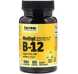 Vitamina B12 Jarrow 1.000 Mcg Meticobalamina 100 Tabletes Sublingual Importado EUA