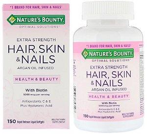 Hair Skin Nails Nature's Bounty Multivitamínico Com Biotina 150 Cápsulas Cabelo Pele E Unha Importado EUA