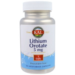 Orotato de Lítio 5mg Lithium Orotate 60 Cápsulas KAL Importado EUA