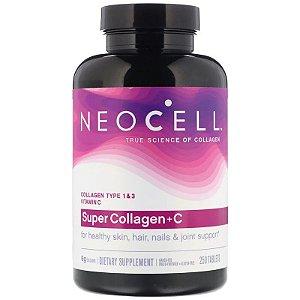 Colágeno Hidrolisado Neocell 6.000mg Cabelos Pele Unhas Juntas e Ossos 250 Cápsulas