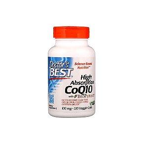 CoQ10 100mg Alta Absorção Doctor Best 120 Cápsulas Importado EUA
