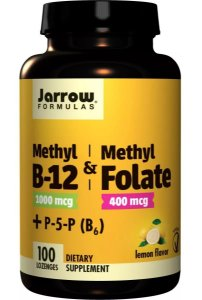 Vitamina B12 1000mcg Com Methyl Folate 400mcg 100 Cápsulas