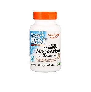 Magnésio Quelado De Alta Absorção 120 Tabletes Doctor Best