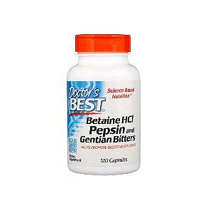 Cloridrato de Betaina HCL Pepsina 120 Cápsulas Doctor Best
