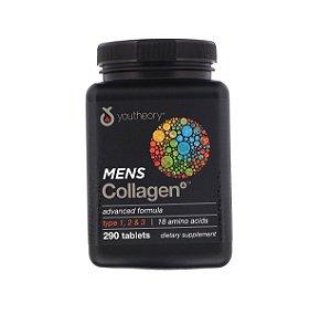 Colágeno Masculino Tipos 1 2 e 3 290 Cápsulas Youtheory