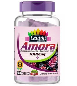 Amora 1000mg Com Vitamina B6 Magnésio 180 Cápsuals Lauton