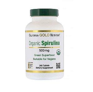 Spirulina Orgânica 500mg 240 Cápsulas California Gold