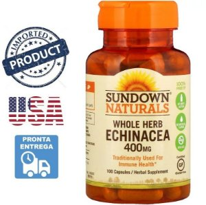 Equinácea 100 Cápsulas Sundown Naturals Importado Echinacea