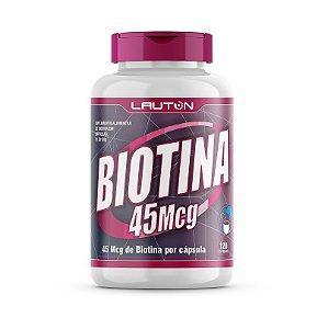 Biotina 120 Cápsulas Para Saúde Cabelos Pele Unhas