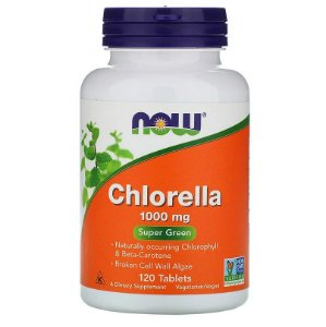 Clorela Chlorella Orgânica 1000mg Importada Eua Now Foods
