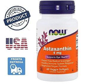Astaxantina Astaxanthin Now Foods 4Mg 60 Capsulas Importado