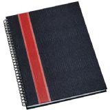 Caderno de Negócios Grande com Faixa