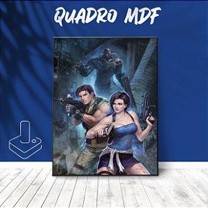 Quadro mdf Jill e Carlos Resident Evil