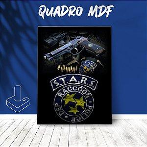 Quadro mdf STARS Resident Evil