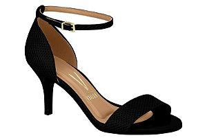Sandália feminina vizzano verniz lezard