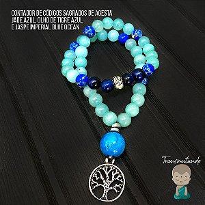Contador Agesta Jade Azul