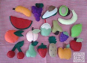 Fruta em feltro (valor unitário)