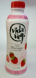 Iogurte Vegano Coco com morango Zero Açúcar - 500g