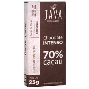 Kit Chocolate Java Vegano 70% Cacau Intenso - 3 tabletes de 25g cada