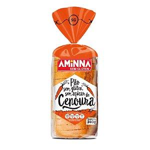 Pão de Cenoura Sem Glúten e Sem Açúcar Aminna - 340g