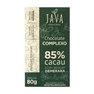 Kit Chocolate Java Vegano 85% cacau Complexo - 3 tabletes de 25g cada