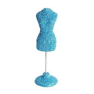 Mini Manequim Alfineteiro Azul