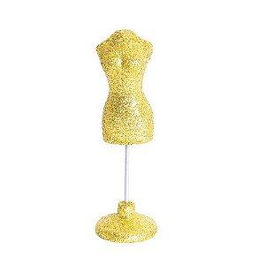 Mini Manequim Alfineteiro Amarelo