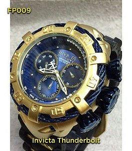 Invicta Thunderbolt 100%  Funcional - Dourado e Azul