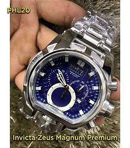 Invicta Zeus Magnum - Prata e Azul