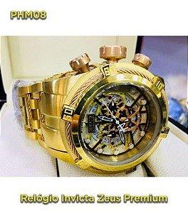 Invicta Zeus Skeleton - Dourado