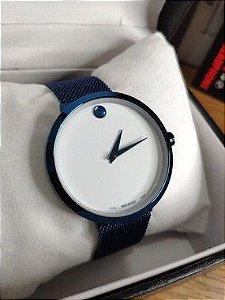 Movado - Azul e Branco