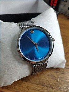 Movado - Prata e Azul