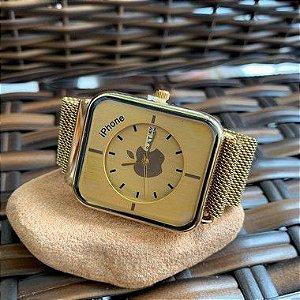 Relógio Iphone - Dourado