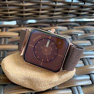 Relógio Iphone - Marrom