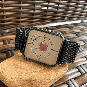 Relógio Iphone - Preto e Branco