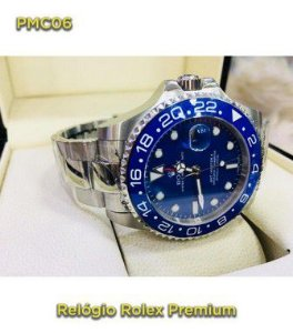 Rolex GMT - Prata e Azul