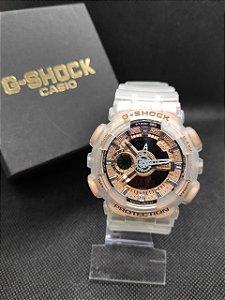 Gshock GA100 Transparente - Rose