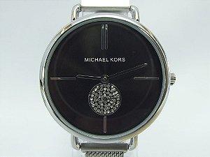 Michael Kors 100% funcional - Prata com Fundo Preto